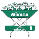 Mikasa collapsible hammock ball cart, green