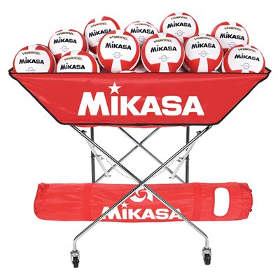 Mikasa collapsible hammock ball cart, red