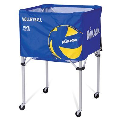 Collapsible ball cart, cap.24 balls, blue / yellow