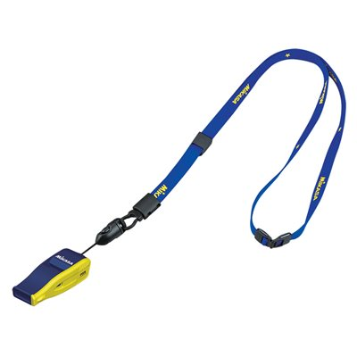 FIVB whistle w / lanyard, navy / yellow
