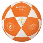 Ballon officiel de footvolley, #5, blanc / orange