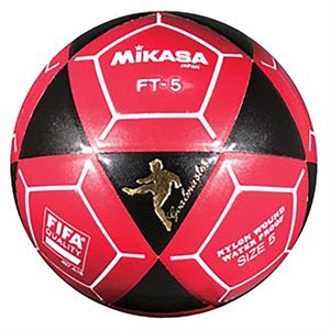 Ballon officiel de footvolley, #5, noir / rouge