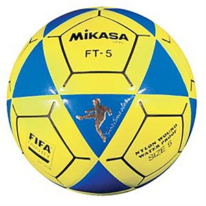 Official footvolley ball, #5, blue / yellow