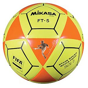 Ballon officiel de footvolley, #5, orange / jaune