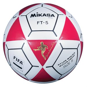 Ballon officiel de footvolley, #5, rouge / blanc