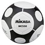 Ballon de soccer design MCS Orbite, #5, noir / blanc