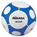 Ballon de soccer design MCS Orbite, #5, bleu / blanc