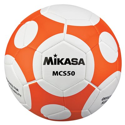 Ballon de soccer design MCS Orbite #5 orange / blanc