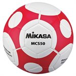 Ballon de soccer design MCS Orbit, #5, rouge / blanc