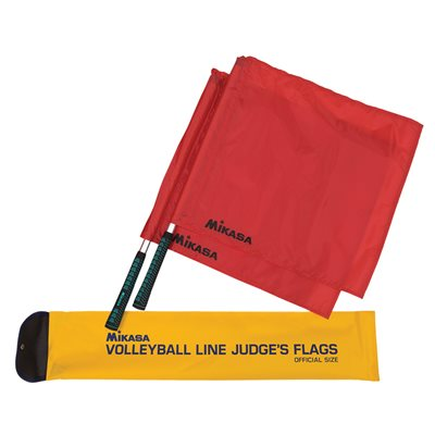 Volleyball line judge flags