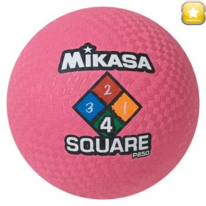 Four Square playground ball, pink