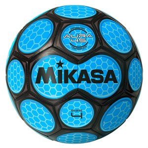 Neon honeycomb soccer ball, blue & black