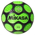 Ballon soccer style néon alvéolé vert & noir