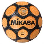 Neon honeycomb soccer ball, orange & black