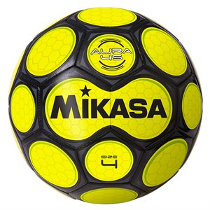 Neon honeycomb soccer ball, yellow & black
