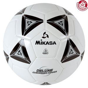 Cushioned cover soccer ball, black