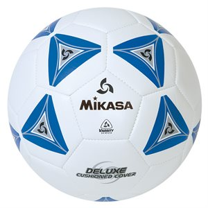 Cushioned cover soccer ball, blue