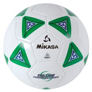 Cushioned cover soccer ball, green