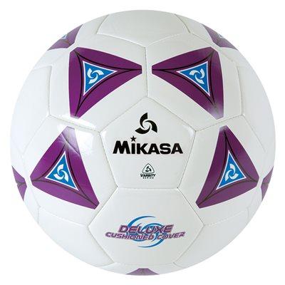 Ballon de soccer matelassé mauve