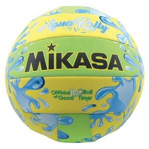 Water resistant AquaRally Volleyball, yellow / green