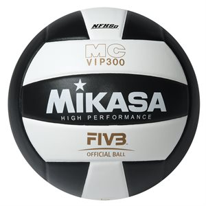 Ballon de volleyball int. en composite, noir