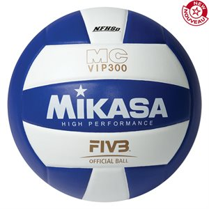 Ballon de volleyball int. en composite, bleu