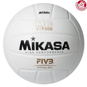 Ballon de volleyball int. en composite, blanc