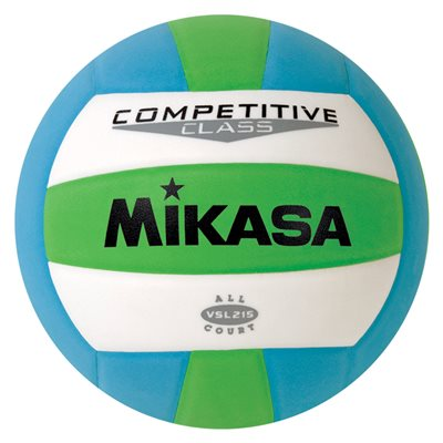 Ballon Mikasa int. / ext., vert / blanc / bleu
