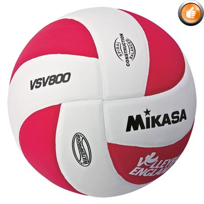 Ballon de volleyball de plage Squish®, blanc / rouge