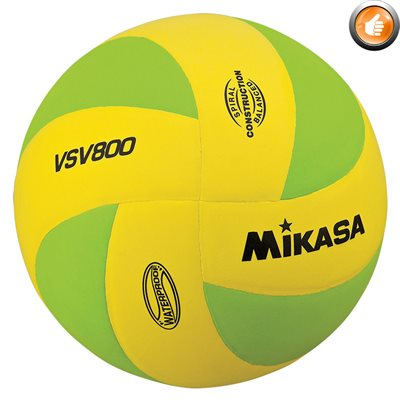 Ballon de volleyball de plage Squish®, jaune / vert